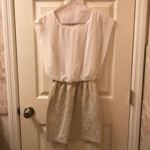New Cocktail dress white and gold size S